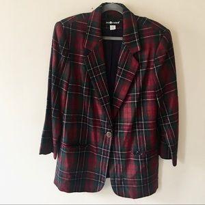 Sag Harbor plaid wool jacket. Trending oversized!